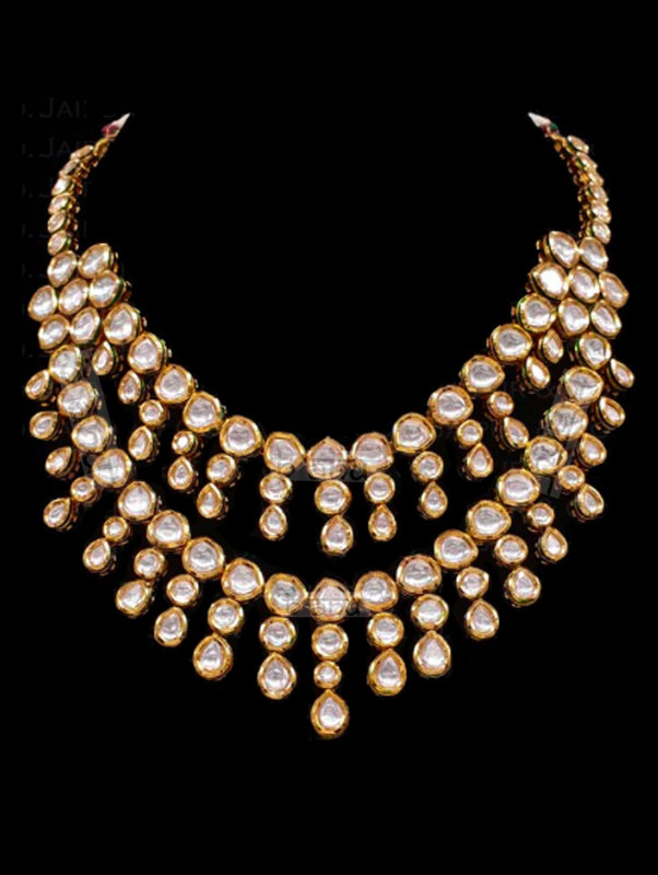 Mavi Kundan Necklace - bAnuDesigns