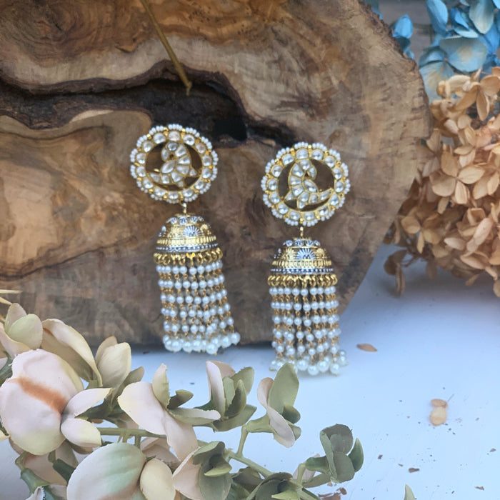 Moon Drop Earrings - bAnuDesigns