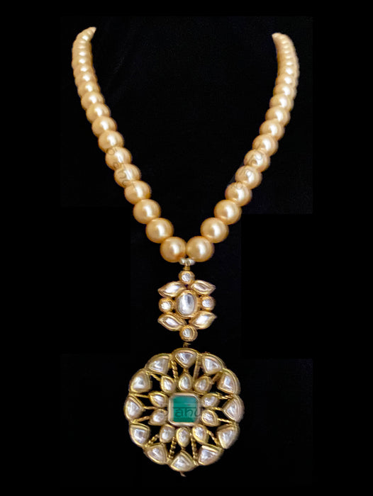 Noa Multi Strand Pearls & Kundan Necklace - bAnuDesigns