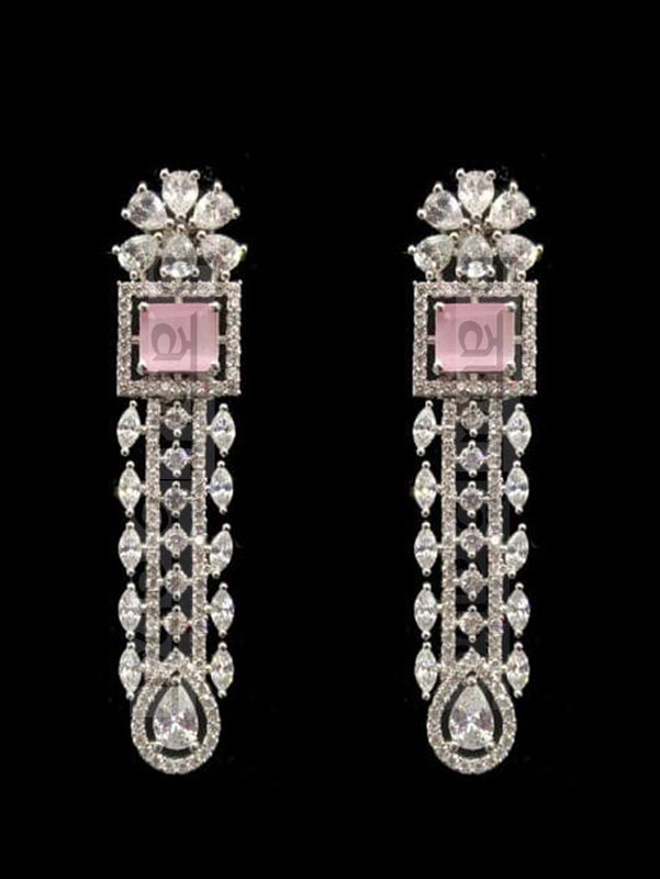 Reeya CZ Set - Pink - bAnuDesigns