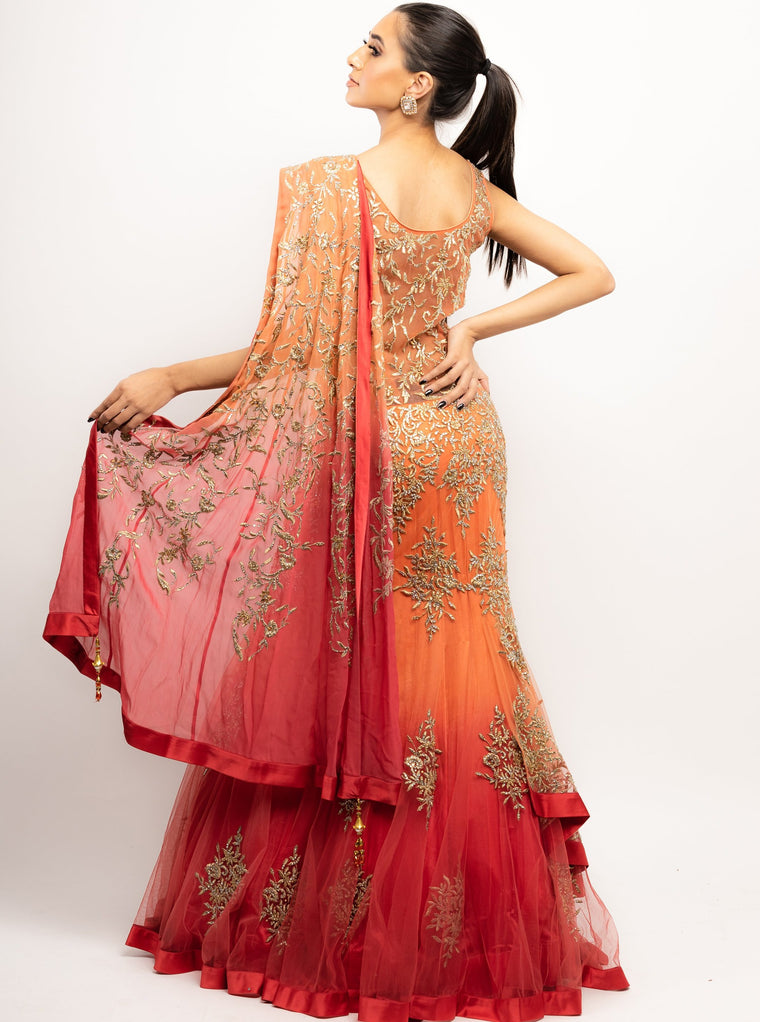 Saba - Embroidered Anarkali Gown