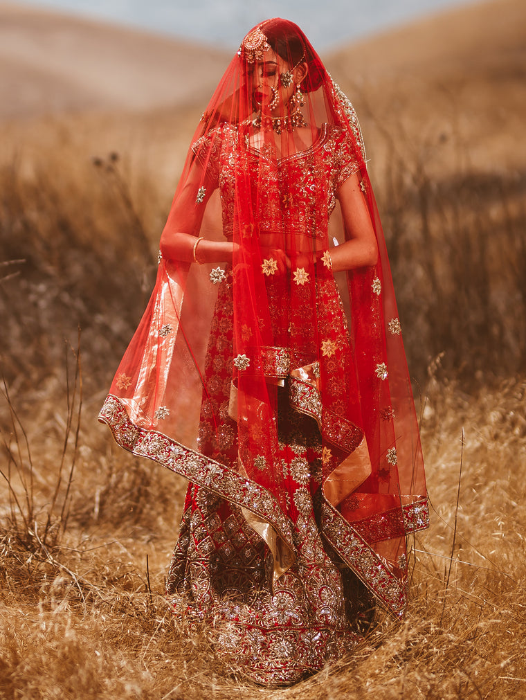 Athena Red Bridal Lehenga - Indian Bridal Wear