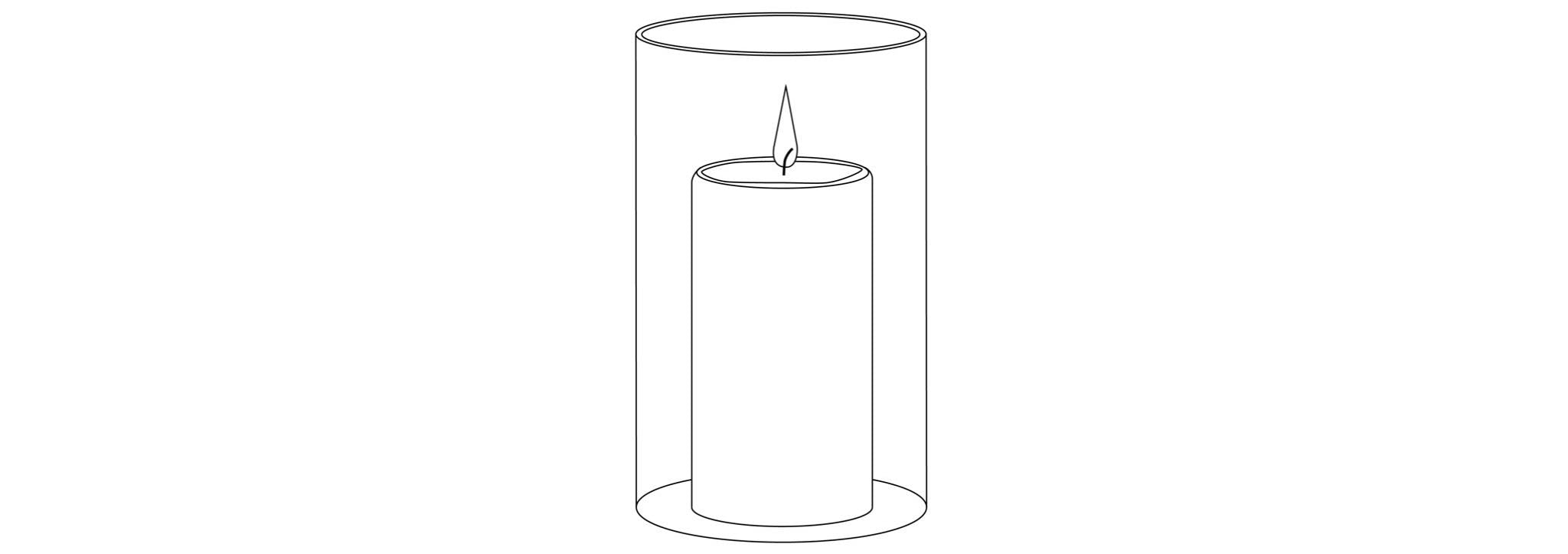 Candle in container