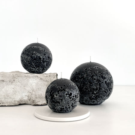 Textured ball candles