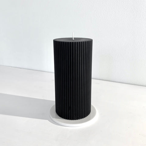 Fluted pillar candle