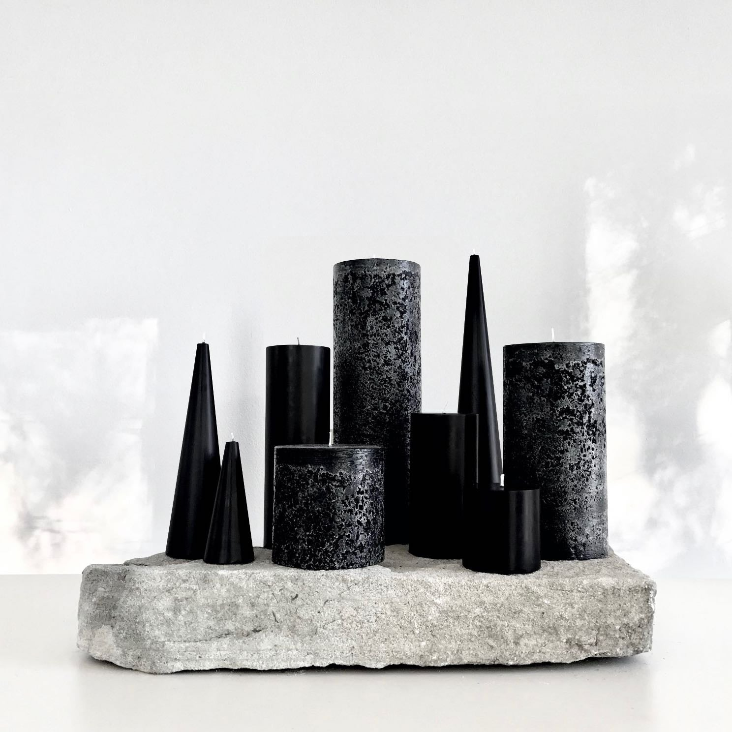 Black candle bundle