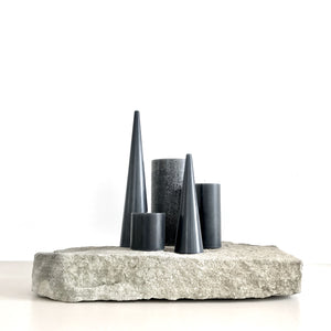 Bundle of grey candles