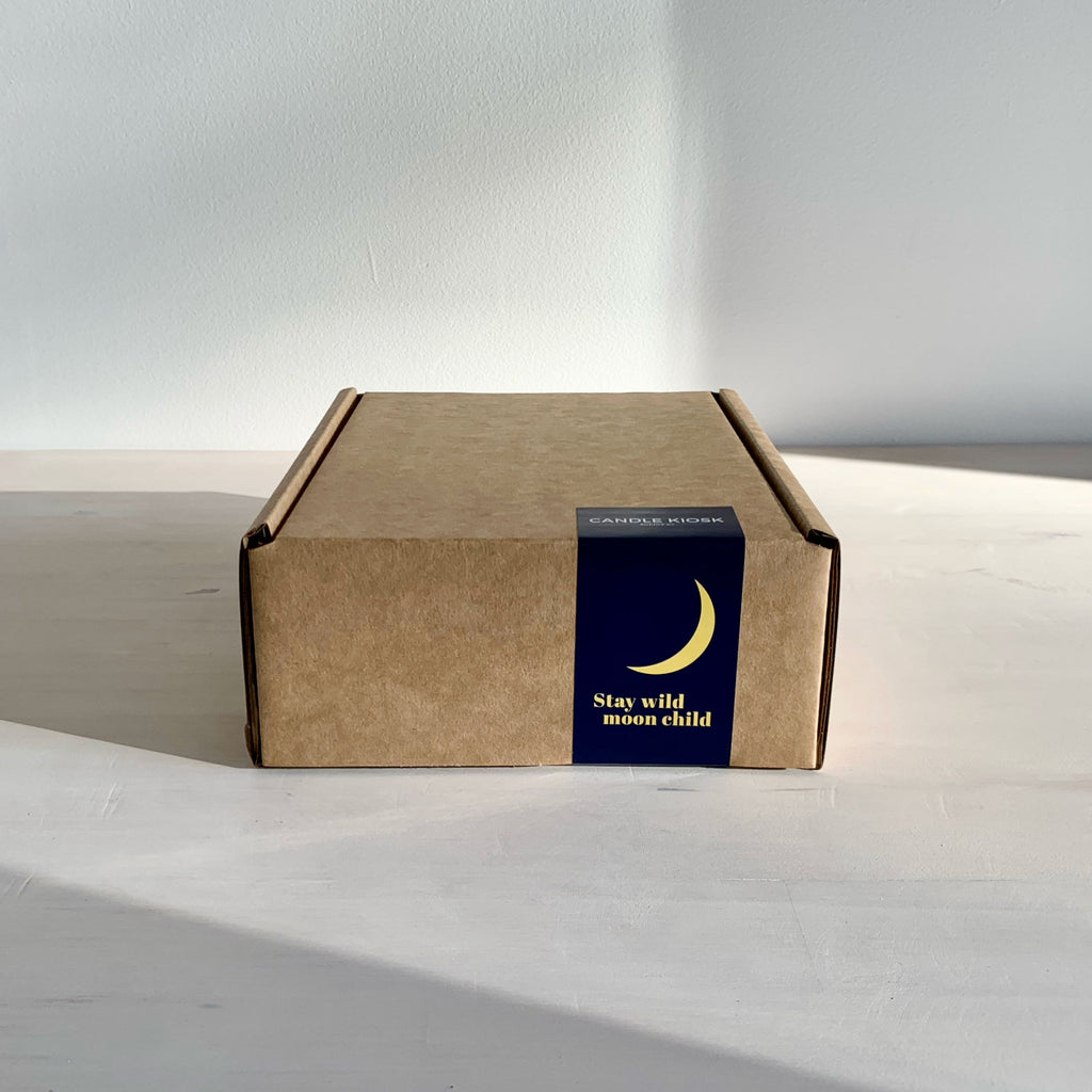 Moon candle gift box