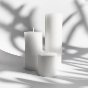 Pure White pillar candles