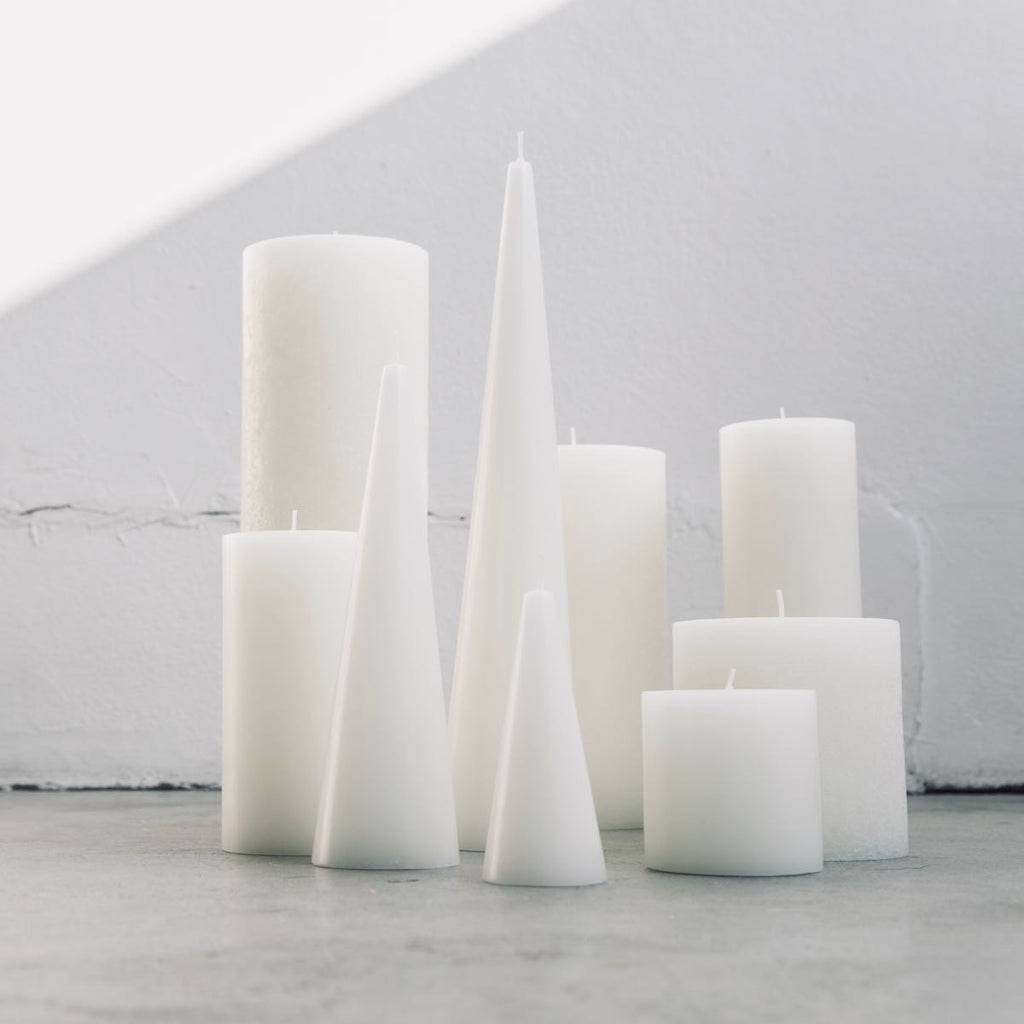 Cluster of warm white candles