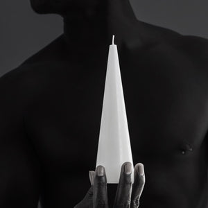 Sculptural cone candle