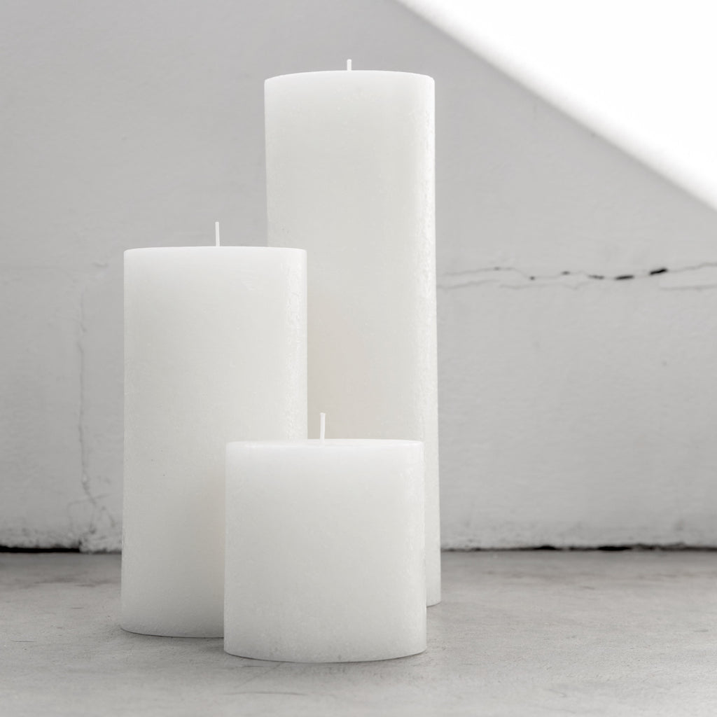 White Textured Candles