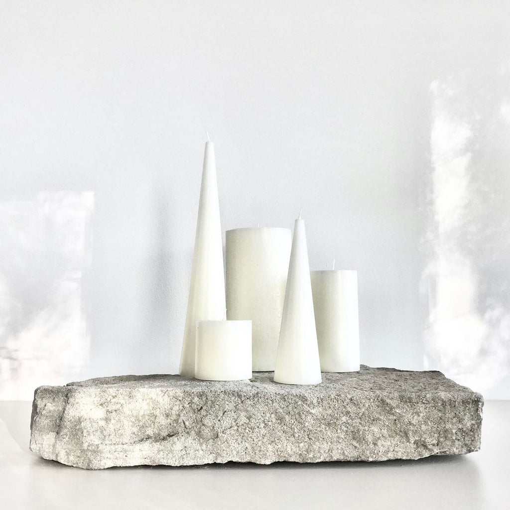 Bundle of white candles