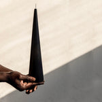 Large black cone candle