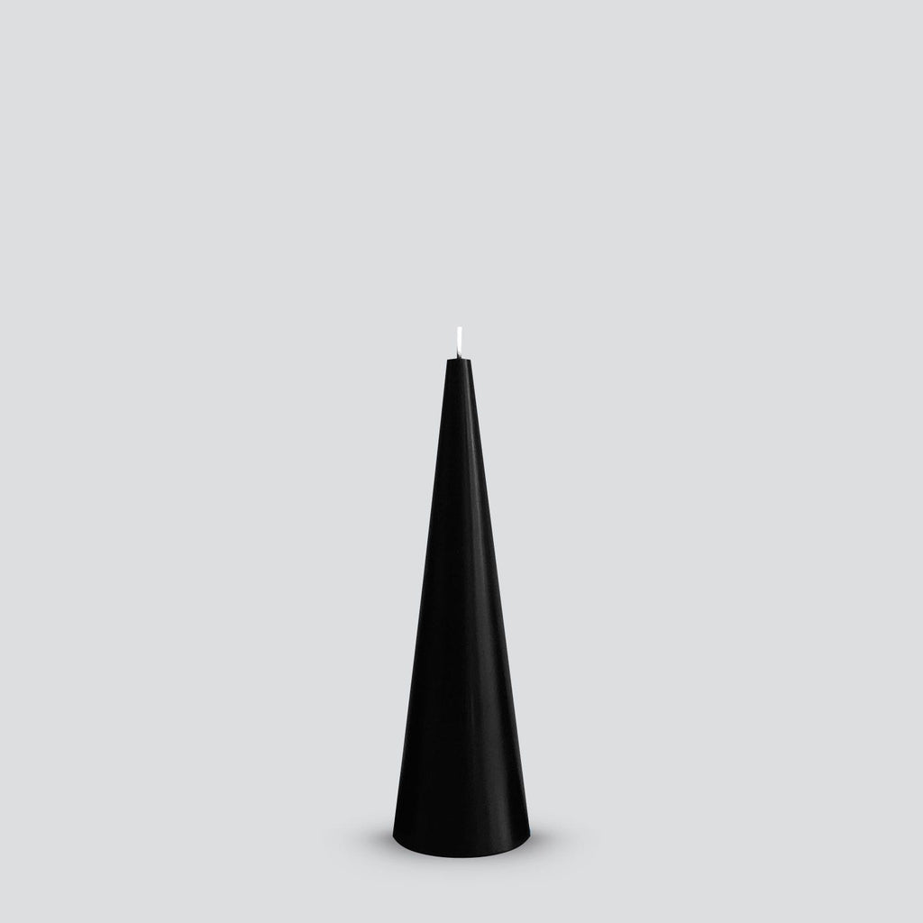 Black cone candle