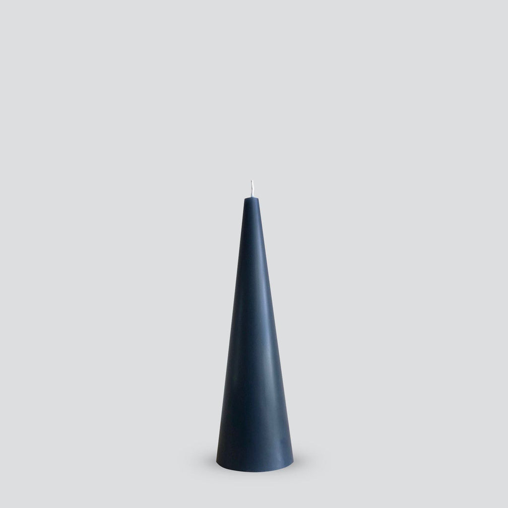 Tall grey cone candle
