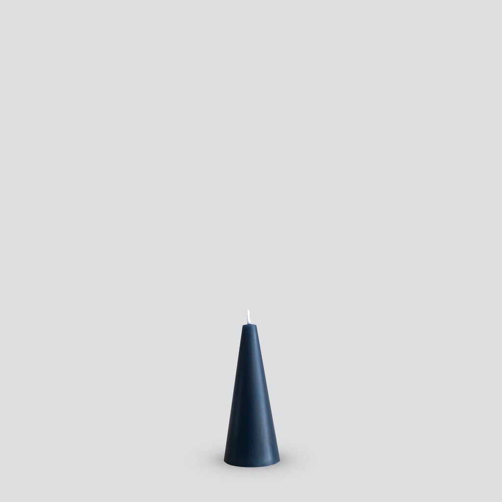 Grey cone candle