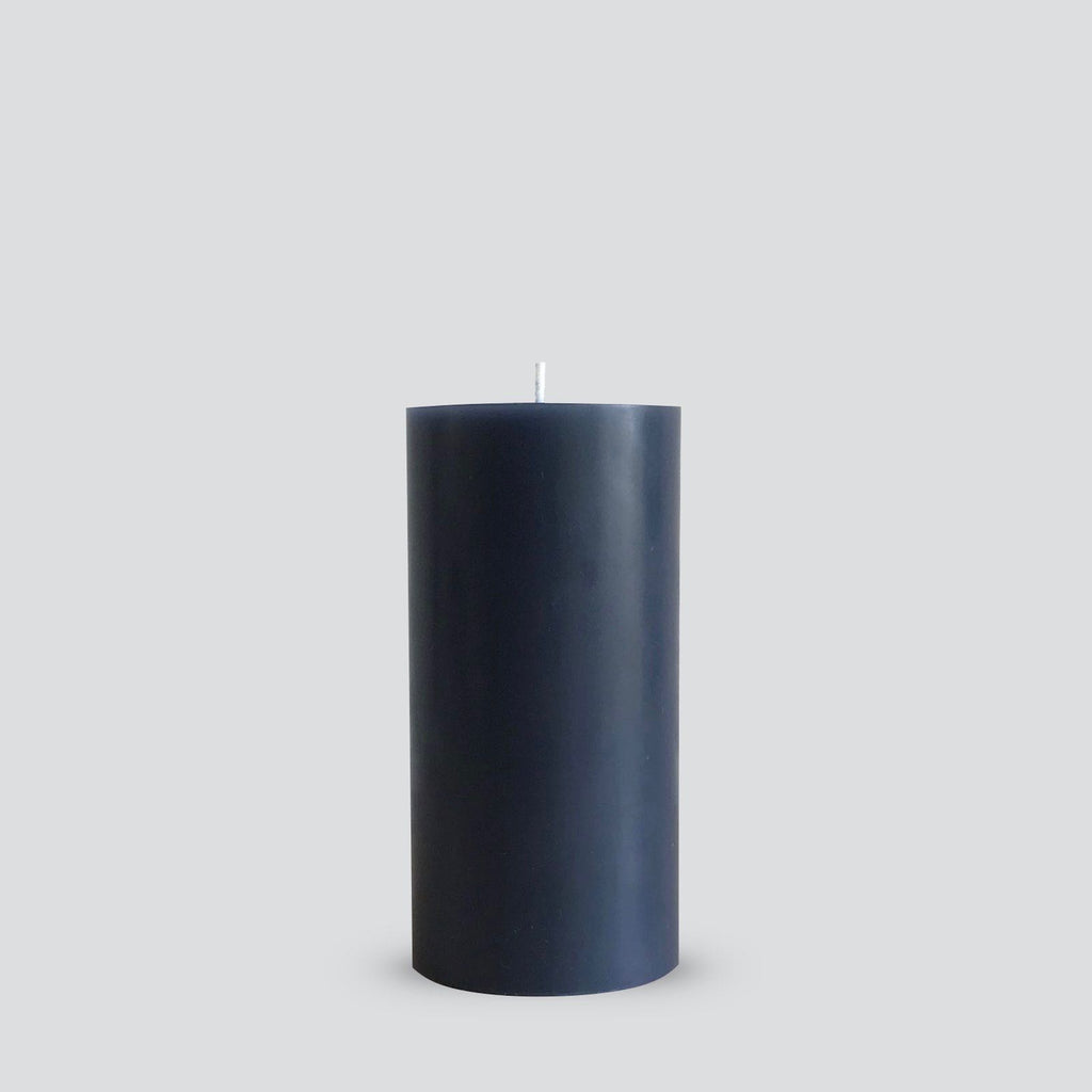 Grey pillar candle
