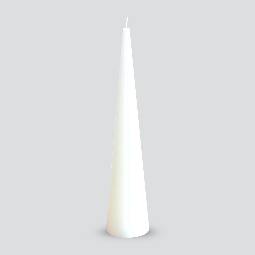 Large white cone candle