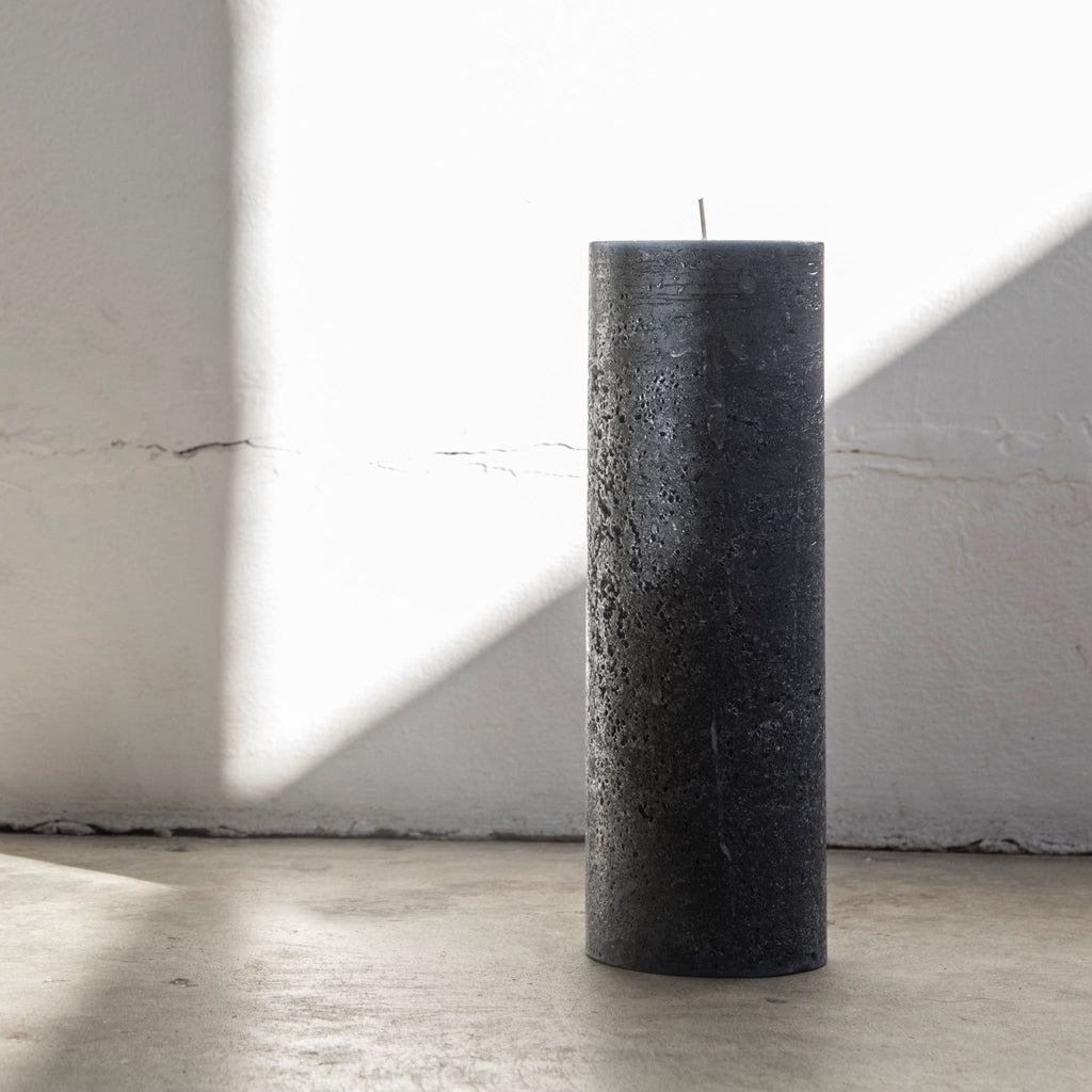 Large textured pillar candle