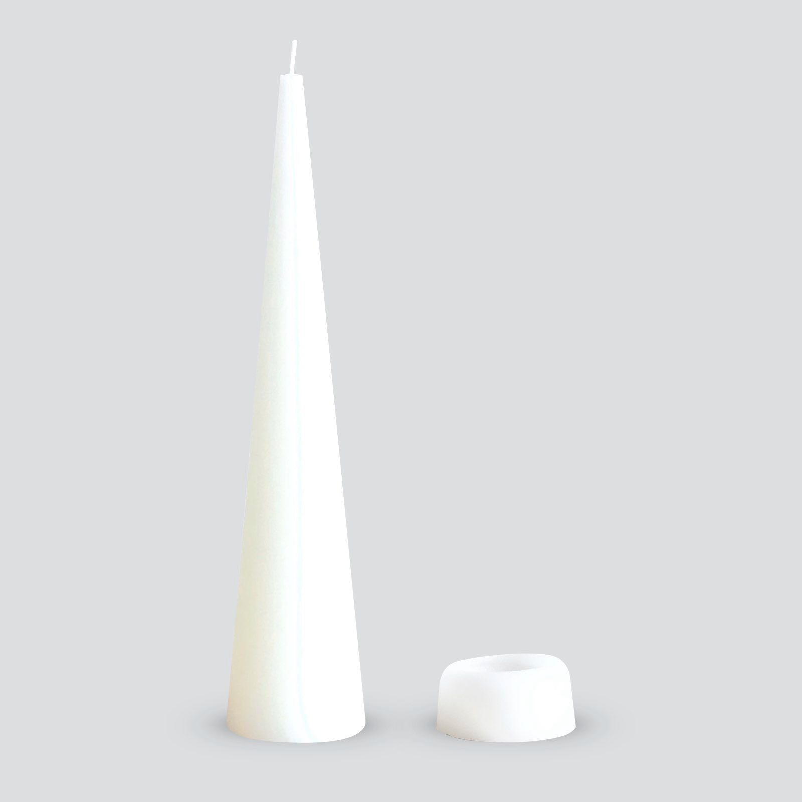White Cone Candles