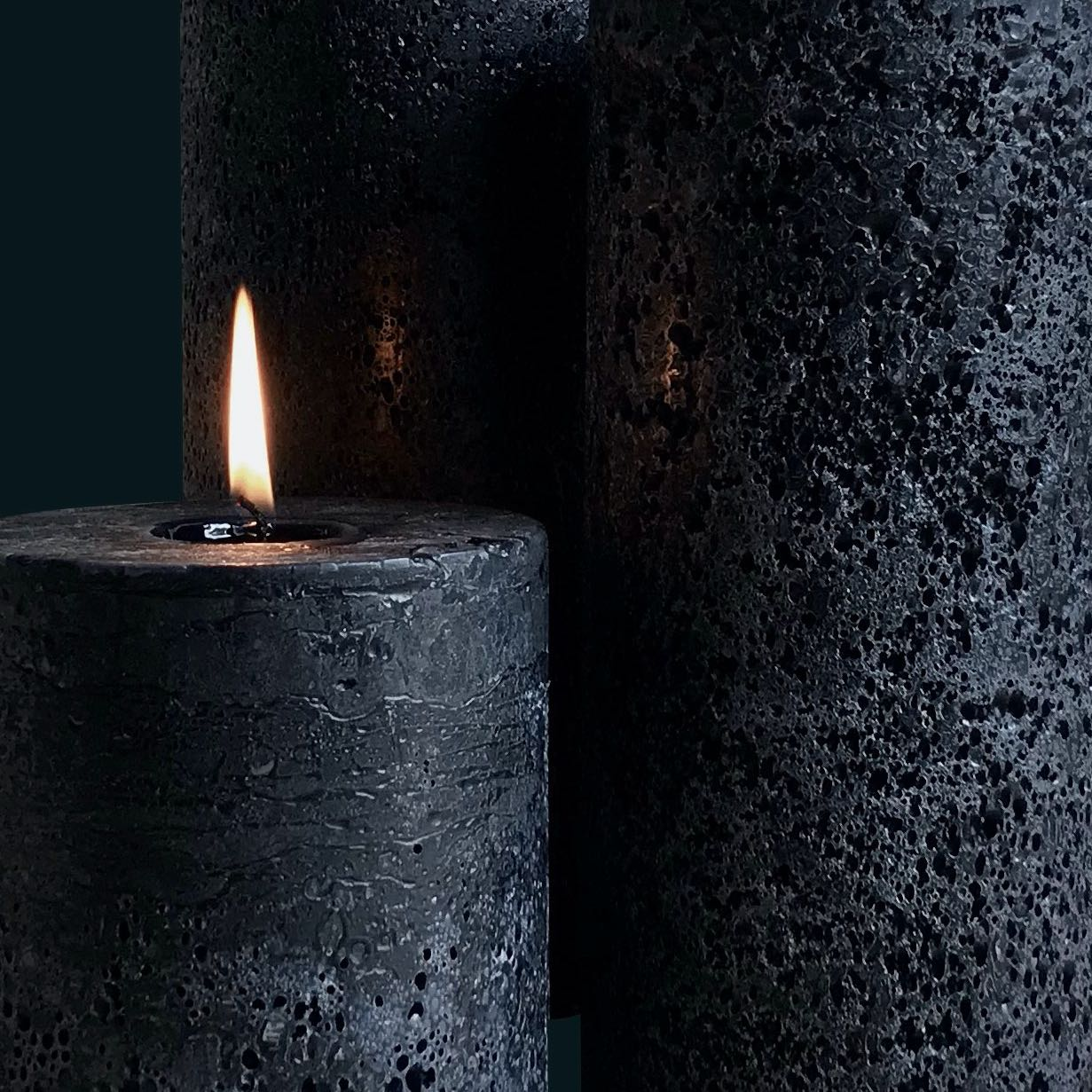 Black Textured Candles
