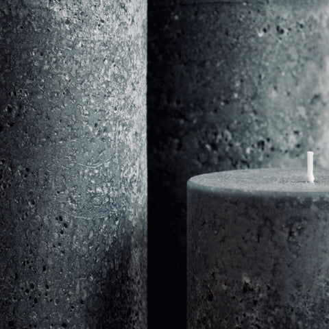 Large textured charcoal candles