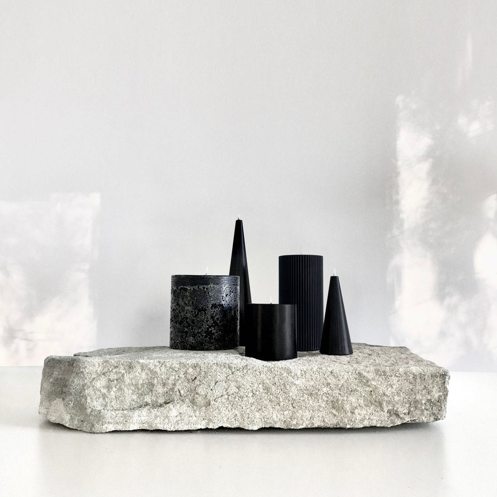 Cluster of sculptural pillar candles