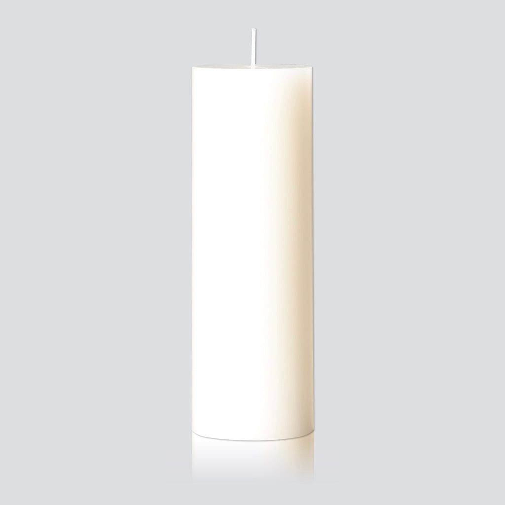 Warm white large pillar candle