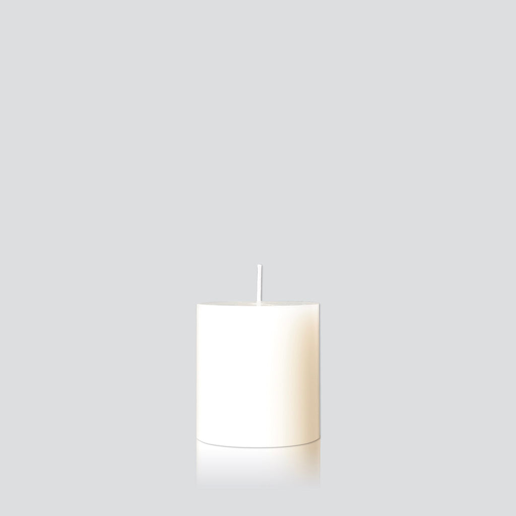 Warm white small pillar candle