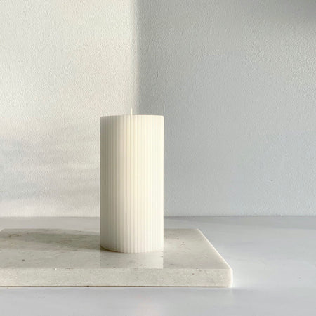 White ripple candle
