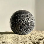 Large black ball candle