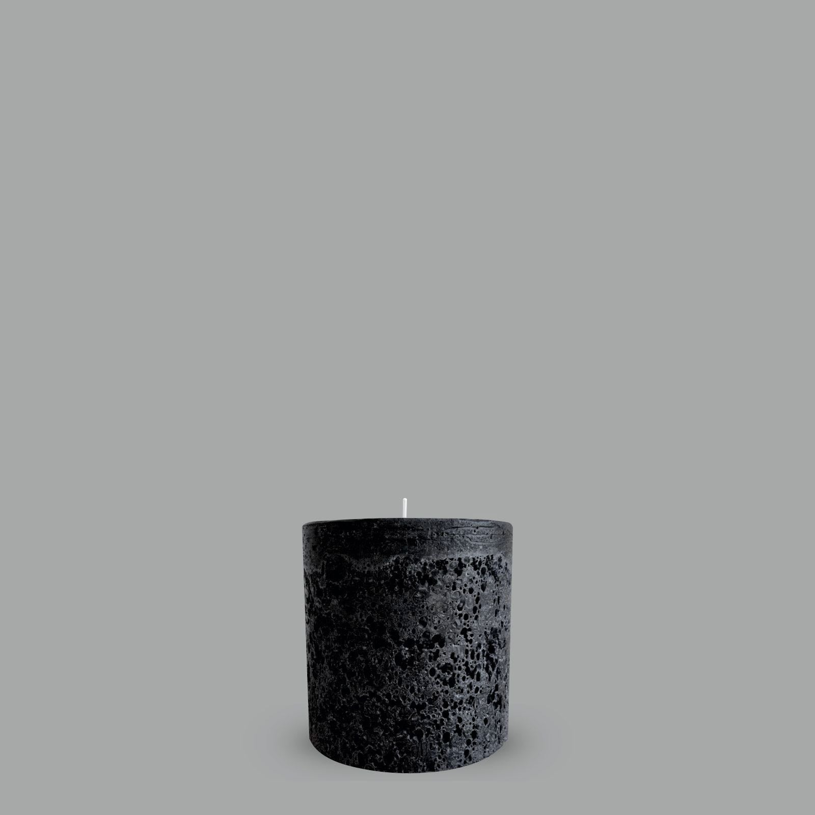 Black Textured Pillar Candle