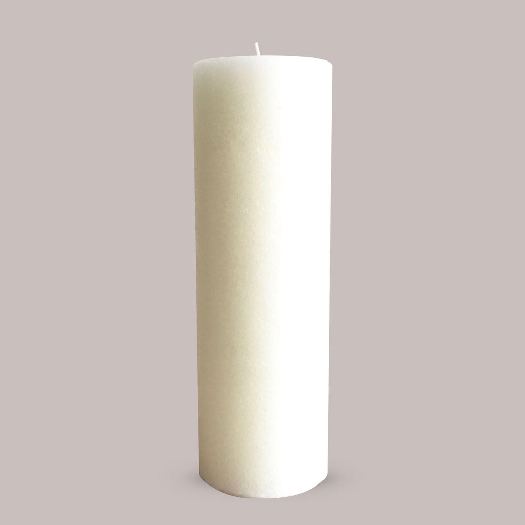 Large white cathedral candle