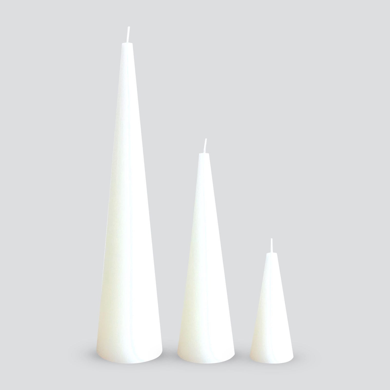 White sculptural candles