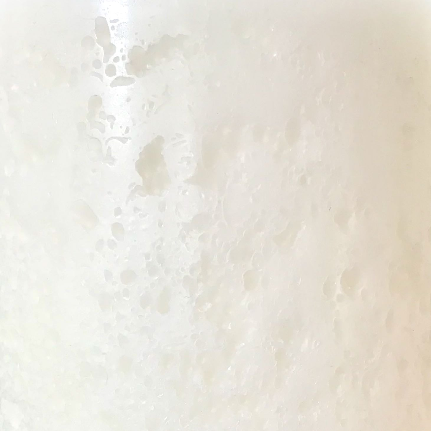 White textured candle