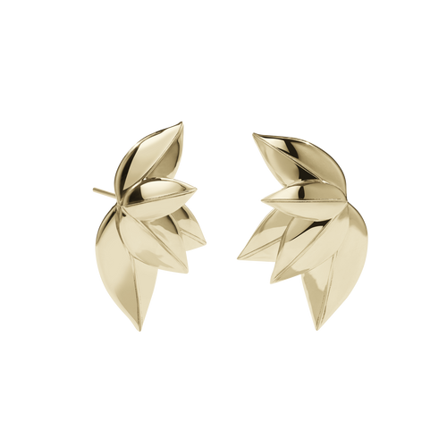 5 Leaves Stud Earrings