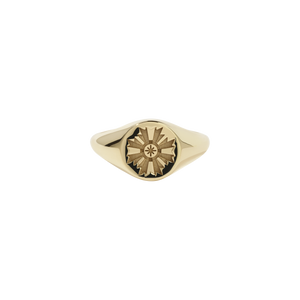 August Signet Ring Embossed