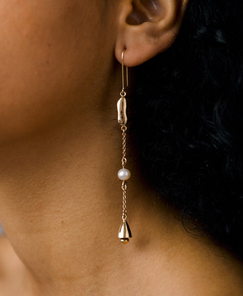 Dune and Bell Drop Earrings