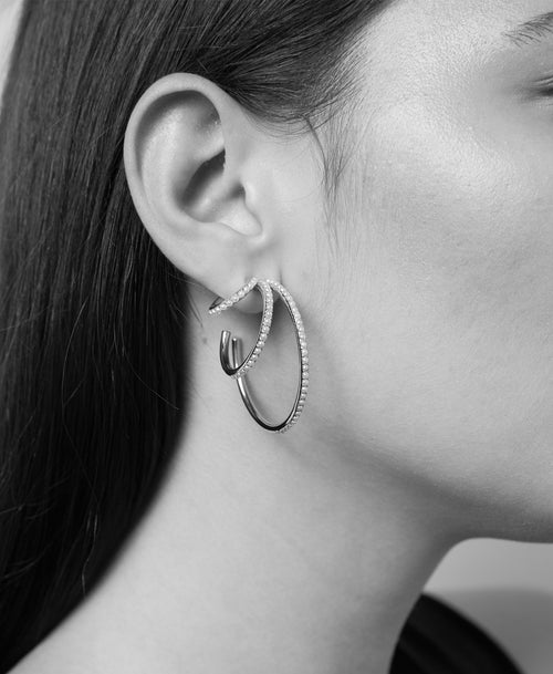 Seed Triple Hoop Earrings