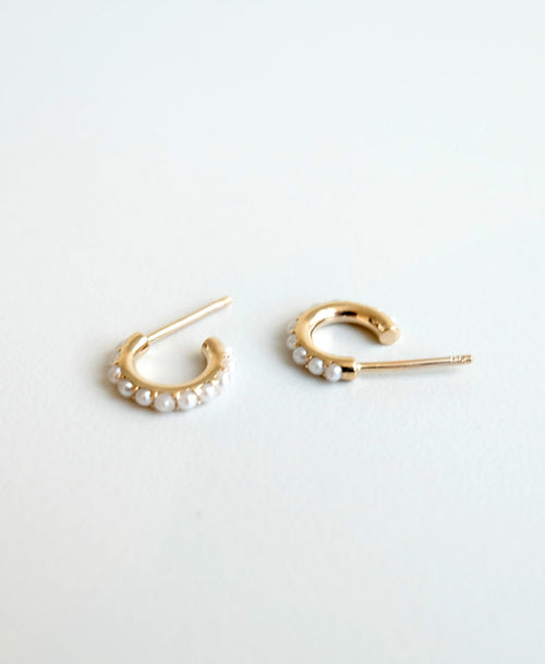 Seed Hoop Earrings Small