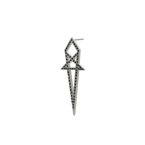 Arrow Earring Pave Single