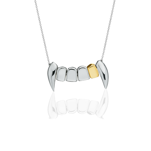 Fang Necklace With Gold Tooth