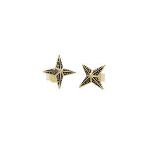 Faux Pave Star Studs