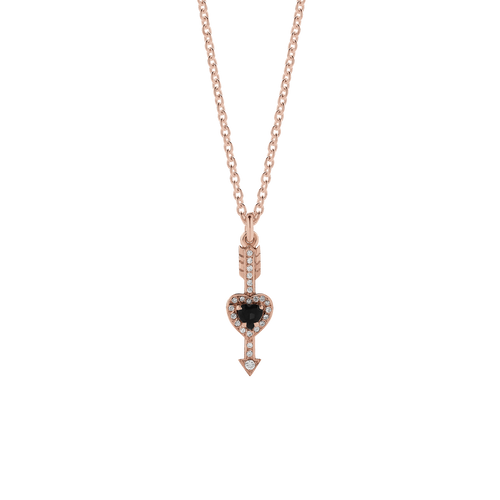 Heart & Arrow Necklace Pave