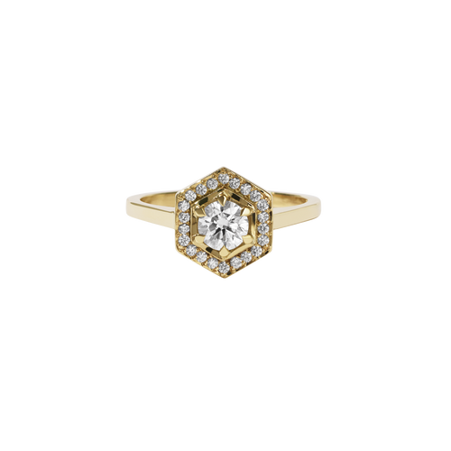 Hex Engagement Ring 0.5ct