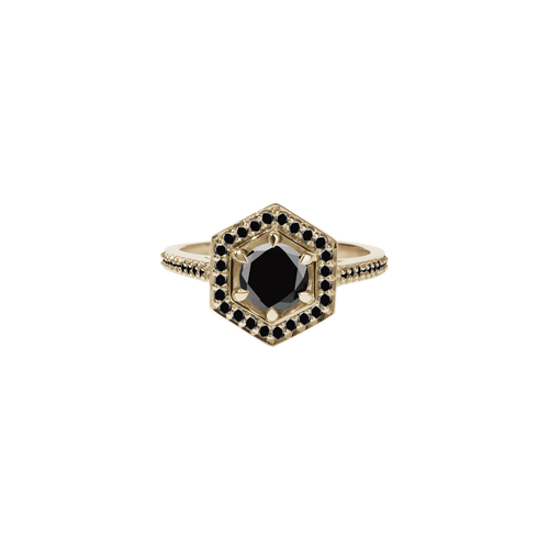 Hex Ring Black Diamond