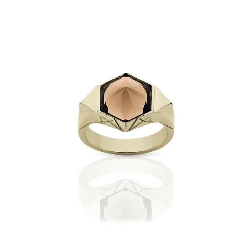 Hexagon Cocktail Ring