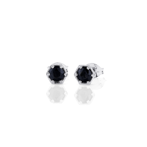 Hexagon Stone Studs