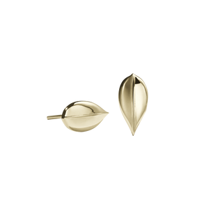 Leaf Stud Earrings Large